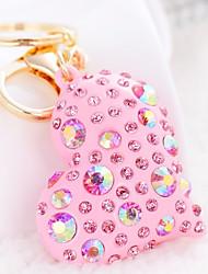 cheap -Heart Keychain Blue / Pink / Cream Irregular Zircon, Alloy Diamond / Rhinestone Decorated Case, Sweet For Gift / Date