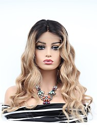 cheap -Remy Human Hair Full Lace Lace Front Wig Asymmetrical Wendy style Brazilian Hair Wavy Wig 130% Density with Baby Hair Women Easy dressing Sexy Lady Natural Women's Very Long Human Hair Lace Wig PERFE