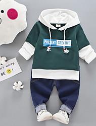 cheap -Baby Boys' Active Daily Print Long Sleeve Regular Clothing Set Green