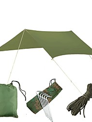 cheap -5 person Camping Shelter Outdoor UV Resistant Rain Waterproof Ultra Light (UL) Single Layered Pop Up Camping Tent 1000-1500 mm for Beach Camping / Hiking / Caving Picnic Oxford Cloth Waterproof