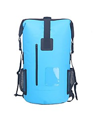 cheap -30 L Hiking Backpack Rucksack Rain Waterproof Outdoor Swimming Surfing Hiking Special Material Sky Blue Red Grey