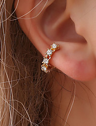 cheap -Women's Cubic Zirconia tiny diamond Clip on Earring Ear Cuff Stylish Creative Dainty Ladies Fashion Cute Delicate Earrings Jewelry Gold / Silver For Wedding Party / Evening Daily Masquerade