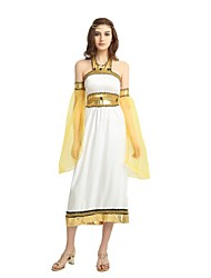 cheap -Athena Costume Women's Adults Ancient Greek Halloween Halloween Carnival Masquerade Festival / Holiday Polyster Outfits White Solid Colored Halloween