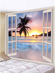 cheap -Novelty / Holiday Wall Decor Polyester Classic Wall Art, Wall Tapestries Decoration