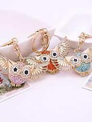 cheap -Keychain Owl Diamond / Rhinestone Decorated Case Fashion Imitation Diamond Ring Jewelry Orange / Blue / Pink For Gift Daily