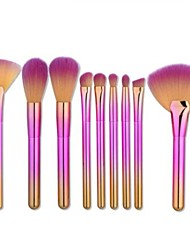 cheap -9pcs-makeup-brushes-professional-make-up-nylon-brush-full-coverage-plastic