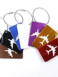 cheap -Luggage Tag Luggage Accessory Aluminium Alloy 1pc Black Golden White / Silver Travel Accessory