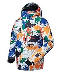 Недорогие -GSOU SNOW Муж. Лыжная куртка Катание на лыжах Зимние виды спорта Лыжные очки Лыжи Зимние виды спорта Полиэфир Верхняя часть Одежда для катания на лыжах / Зима / камуфляж