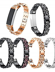 cheap -Watch Band for Fitbit Alta HR / Fitbit Alta Fitbit Sport Band / Jewelry Design Stainless Steel / Ceramic Wrist Strap