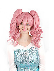 cheap -Cosplay Costume Wig Synthetic Wig Cosplay Wig Curly Bob Wig Pink Medium Length Pink / Purple Synthetic Hair 28 inch Women's Anime Cosplay Women Pink Purple