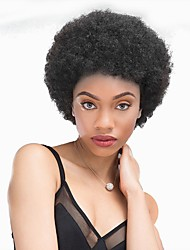 cheap -Wig Kinky Curly Pixie Cut Short Hairstyles 2020 Black African American Wig Capless Brazilian Hair Unisex Natural Black #1B