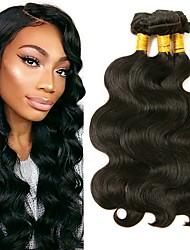 cheap -3 Bundles Burmese Hair Body Wave Human Hair Natural Color Hair Weaves / Hair Bulk Bundle Hair Human Hair Extensions 8-28 inch Natural Color Human Hair Weaves Extention Best Quality Hot Sale Human