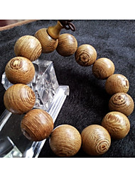 cheap -Men's Bead Bracelet Vintage Bracelet Classic Beads Gourd Stylish Asian Vintage Ethnic Wooden Bracelet Jewelry Light Yellow For Ceremony Festival