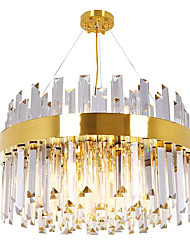cheap -13 Bulbs QIHengZhaoMing 60 cm Chandelier Crystal Electroplated Modern 110-120V / 220-240V