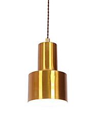cheap -1-Light Northern Europe Modern Electroplated Metal Shade Dining Room Mini Pendant Light Use 1 E26/E27 Bulbs