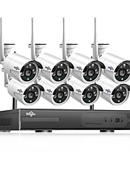 cheap -Hiseeu® 1080P Wireless CCTV System HDD 2MP 8CH Powerful NVR IP IR-CUT CCTV Camera IP Security System Surveillance Kits Day and Night Remote Viewing