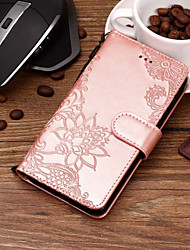 cheap -Case For Motorola Moto X4 / MOTO G6 / Moto G6 Play Wallet / Card Holder / with Stand Full Body Cases Lace Printing Hard PU Leather