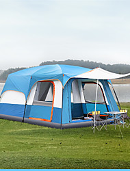 cheap -TANXIANZHE® 10 person Cabin Tent Family Tent Outdoor Windproof UV Resistant Rain Waterproof Double Layered Poled Camping Tent 2000-3000 mm for Fishing Beach Camping / Hiking / Caving Oxford Cloth