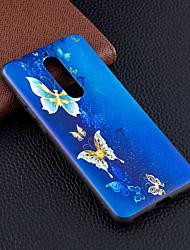 Недорогие -Кейс для Назначение Nokia Nokia 8 / Nokia 6 / Nokia 5 С узором Кейс на заднюю панель Бабочка Мягкий ТПУ