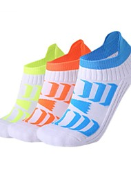 cheap -Compression Socks Ankle Socks Running Socks Athletic Sports Socks Yoga Socks Men's Women's Bike / Cycling Breathable Fast Dry Quick Dry 1 Pair Creative Cotton Nylon Orange Green Blue One-Size