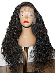 cheap -Synthetic Wig Synthetic Lace Front Wig Curly Layered Haircut Side Part Lace Front Wig Long Black#1B Dark Brown Synthetic Hair 26 inch Women's with Baby Hair Soft Natural Hairline Black Modernfairy