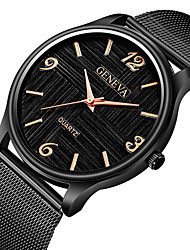 cheap -Men's Dress Watch Wrist Watch Quartz Black / Silver Chronograph Creative New Design Analog Classic Vintage Casual - Silver / Black Black / White Black / Rose Gold One Year Battery Life / Tianqiu 377
