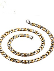 cheap -Men's Necklace Stylish Foxtail chain Mariner Chain Creative Fashion Titanium Steel Gold Silver 50 cm Necklace Jewelry 1pc For Gift Daily