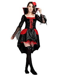 cheap -Witch Costume Women's Highschool Halloween Halloween Carnival Masquerade Festival / Holiday Polyster Outfits Black Solid Colored Halloween