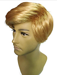 cheap -Synthetic Wig Cosplay Wig Straight Bob Wig Blonde Short Light golden Yellow Synthetic Hair 16 inch Men's Fashionable Design Cosplay Hot Sale Blonde White