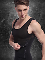 cheap -Men's See Through Compression Tank Top Running Fitness Gym Workout Breathable Quick Dry Compression Sportswear Vest / Gilet Compression Clothing Sleeveless Activewear High Elasticity