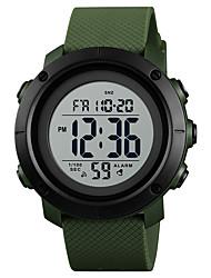 Недорогие -SKMEI Муж. Спортивные часы Армейские часы электронные часы Японский Цифровой Стеганная ПУ кожа Черный / Зеленый 30 m Защита от влаги Будильник Календарь Цифровой На каждый день Мода -  / Один год