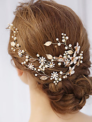 cheap -Alloy Hair Accessory with Faux Pearl 1 Piece Wedding / Special Occasion Headpiece