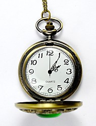 cheap -Couple's Pocket Watch Quartz Stainless Steel Bronze Hollow Engraving Analog Vintage Skeleton - Bronze