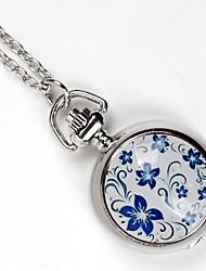 cheap -Couple's Pocket Watch Quartz Silver Lovely Analog - Digital Vintage - Silver