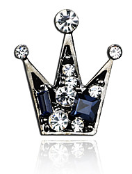 cheap -Men's Cubic Zirconia Brooches Retro Stylish Creative Crown Luxury Fashion British Brooch Jewelry Gold Silver Gray For Party Daily
