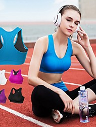 cheap -Women's Sports Bra Top Sports Bra Bralette Racerback Mesh Zumba Yoga Running Breathable High Impact Freedom Padded High Support Black White Purple Red Blue Solid Colored / Stretchy