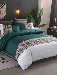 cheap -Duvet Cover Sets Contemporary Polyster Reactive Print 3 Piece Bedding Set With Pillowcase Bed Linen Sheet Single Double Queen King Size Quilt