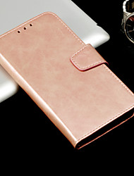 cheap -Case For Huawei Mate 10 pro / Mate 10 lite Wallet / Card Holder / Flip Full Body Cases Solid Colored Hard PU Leather