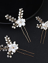 cheap -Beaded / Alloy Hair Clip with Crystal / Rhinestone 1 Piece Wedding / Special Occasion Headpiece