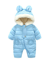 cheap -Baby Boys' Basic Daily Solid Colored Long Sleeve Romper Blue / Toddler