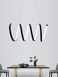 cheap -1-Light 20 cm Mini Style / LED Pendant Light Metal Linear Painted Finishes Modern Contemporary 110-120V / 220-240V