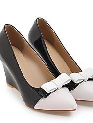 cheap -Women's Heels Wedge Heel PU Fall Black / Pink / Daily