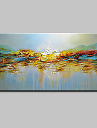 cheap -Oil Painting Hand Painted Abstract / Landscape Modern Canvas With Stretched Frame