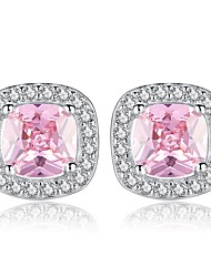 cheap -Women's Stud Earrings Stylish Ladies Sweet Fashion Imitation Diamond Earrings Jewelry White / Pink For Daily Date 1 Pair