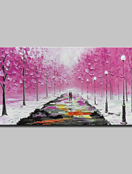 cheap -Mintura® Hand Painted Knife Trees Landscape Oil Painting on Canvas Modern Abstract Wall Art Picture for Home Decoration Ready To Hang