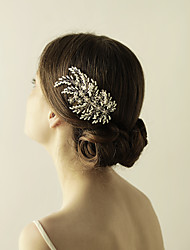 cheap -Beads Hair Combs with Rhinestone 1 Piece Wedding / Party / Evening Headpiece