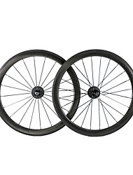 cheap -NEASTY 700CC Wheelsets Cycling 25 mm Road Bike Carbon Clincher 20-24 Spokes 50 mm