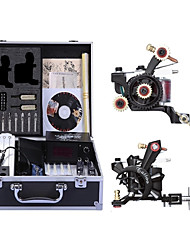 cheap -Professional Tattoo Kit Tattoo Machine - 2 pcs Tattoo Machines, High Speed / Variable Speeds / Professional Level Alloy # 2 alloy machine liner & shader