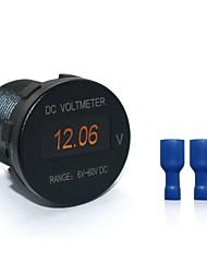 cheap -B3397 DC 6-60V Mini LED Voltmeter Monitors Waterproof for Boat Marine Truck Car Camper Caravan
