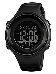 cheap -SKMEI Men's Sport Watch Wrist Watch Digital Watch Japanese Digital Quilted PU Leather Black / Blue / Green 50 m Water Resistant / Waterproof Alarm Calendar / date / day Digital Casual Fashion - Blue